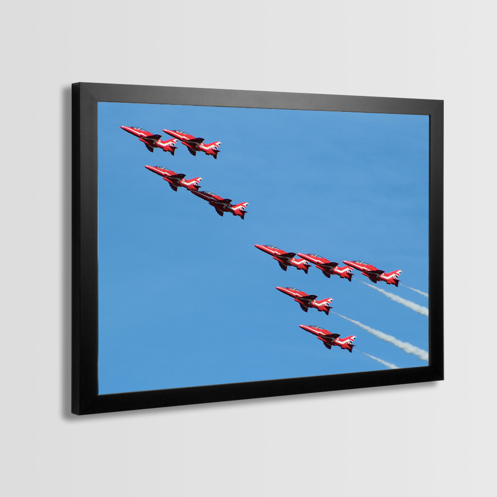 Red Arrows Framed Prints